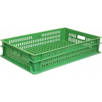 Перфорированный ящик 740х465х145 зелёный