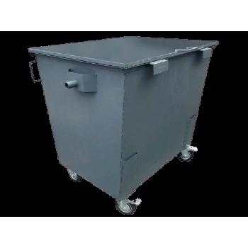 Контейнер для сбора ТБО с крышкой, 1.1 куб.м., Евро