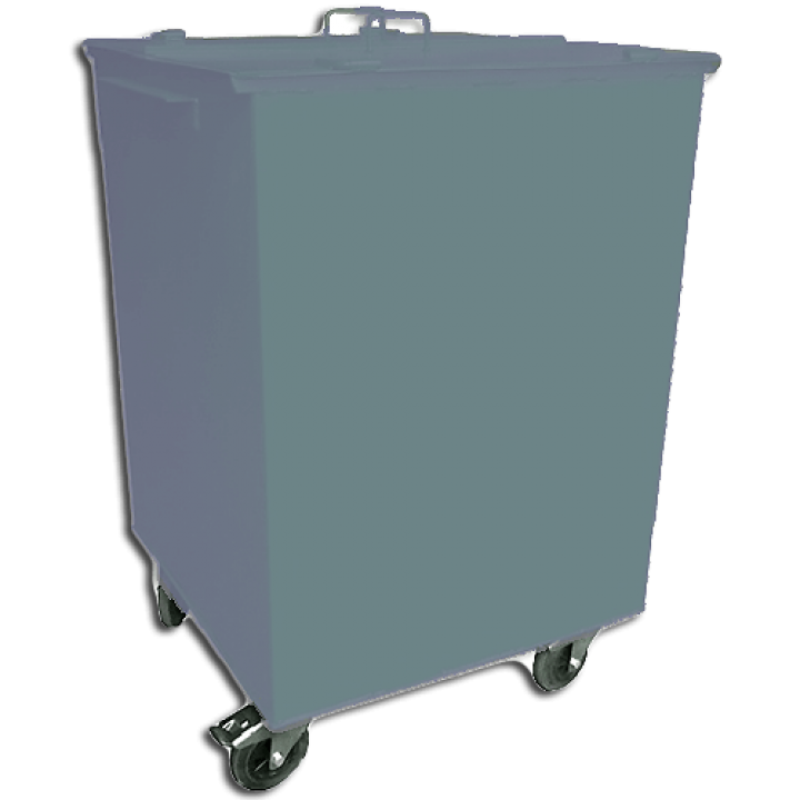 Контейнер ТБО 0,75 М3 с крышкой на колёсах