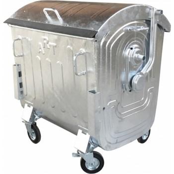 Металлический оцинкованный контейнер для ОБЩЕГО сбора отходов емкостью 1,1 куб.м. типа «евроконтейнер»