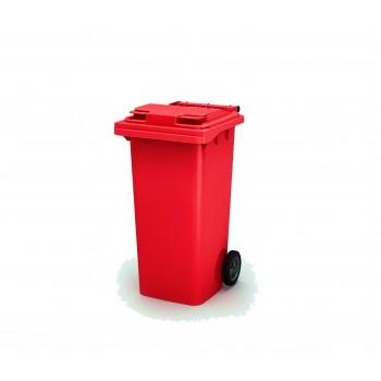 Мусорный бак 120 л (Красный)