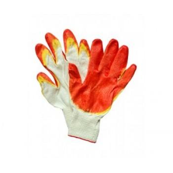 Перчатки ХБ, покрытие – 2-ой облив латексом 13 класс вязки, 1й слой желтый, 2й красного цвета