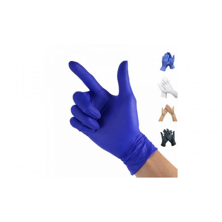 Перчатки нитриловые, неопудренные, синие, одноразовые 100шт
