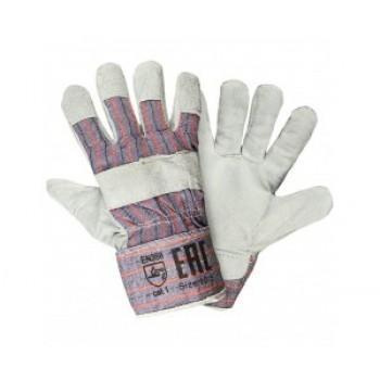 Перчатки комбинированные (с кожаными накладками)